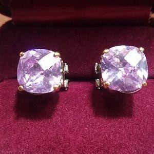 Fancy Statement Purple Earrings